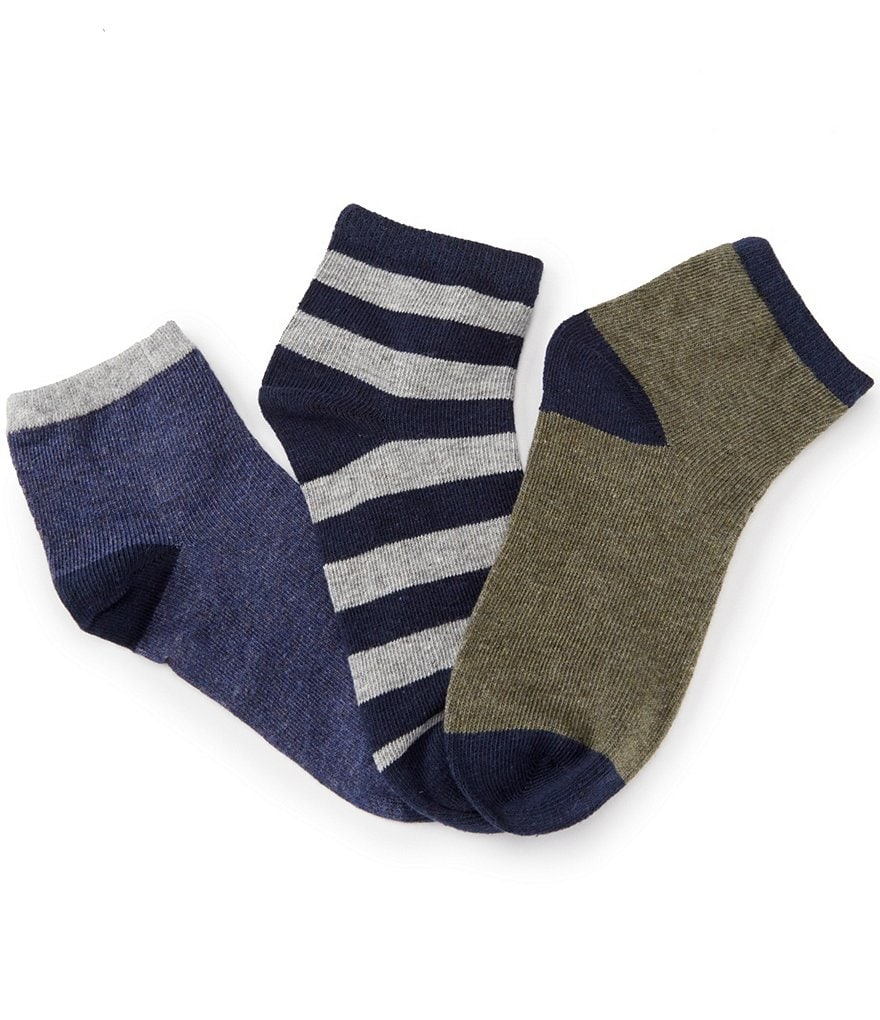Class Club 3-Pack Heathered Quarter Socks
