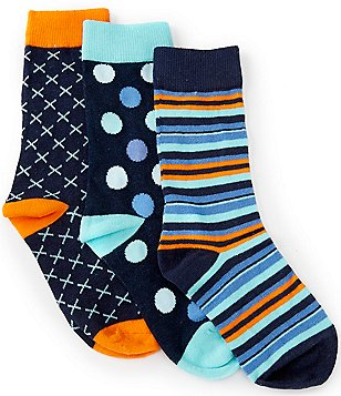 Class Club 3-Pack Assorted Crew Dress Socks