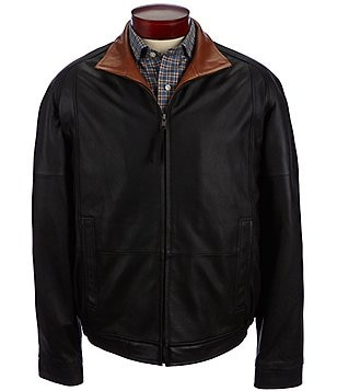 Daniel Cremieux Signature Brighton Light Leather Bomber Jacket