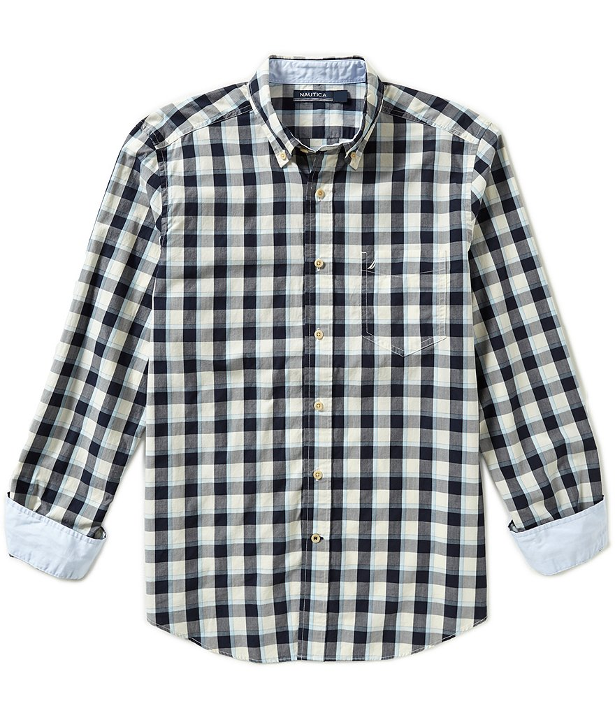 Nautica Classic-Fit Plaid Poplin Shirt