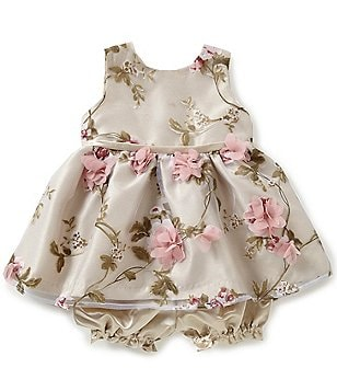 Jayne Copeland Baby Girls 3-24 Months 3-D Floral Dress