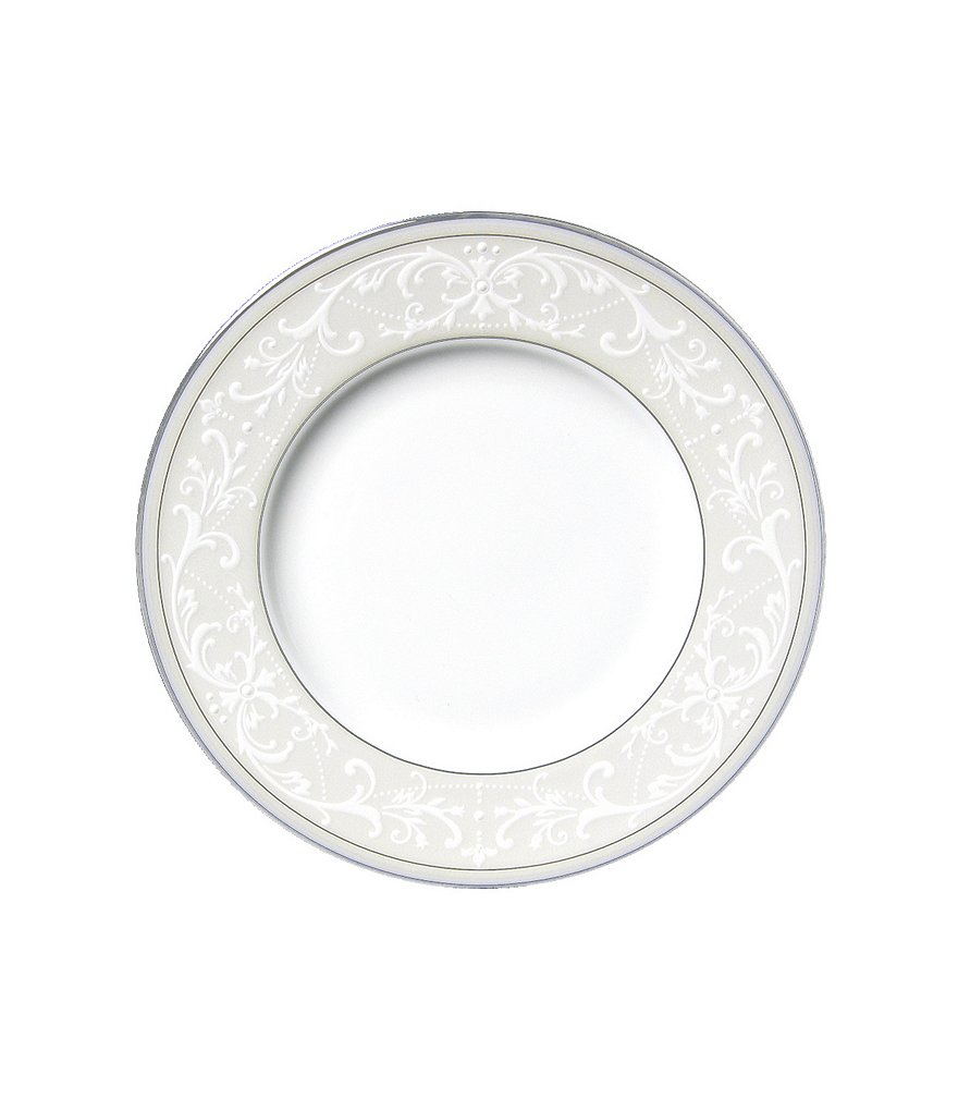 Nikko Pearl Symphony Scroll Bone China Bread & Butter Plate