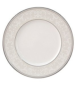 Nikko Pearl Symphony Scroll Bone China Accent Salad Plate Image