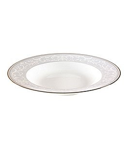 Nikko Pearl Symphony Scroll Bone China Rimmed Soup Bowl Image