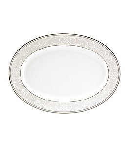 Nikko Pearl Symphony Scroll Bone China Oval Platter Image
