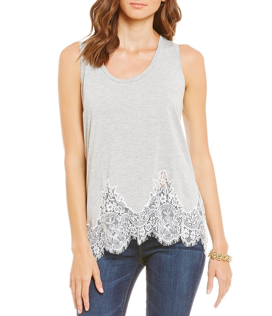 Jessica Simpson Bryanna Embroidered Lace Tank