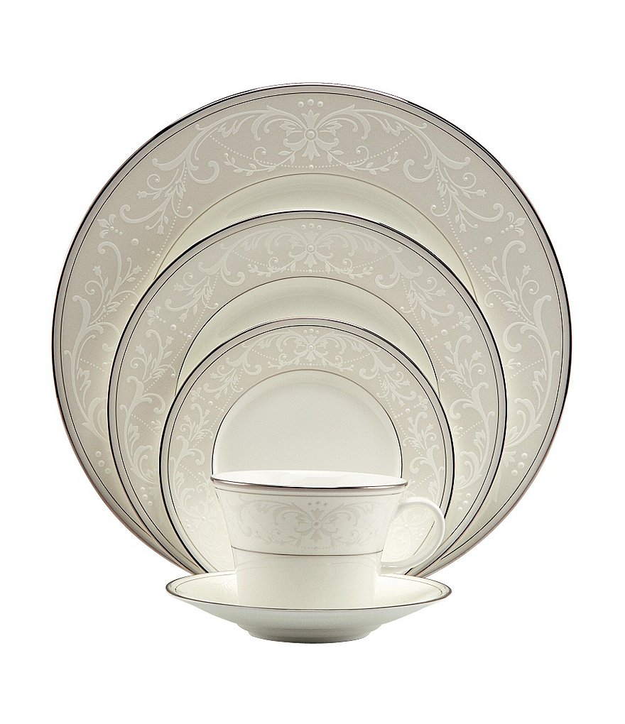 Nikko Pearl Symphony Scroll Bone China