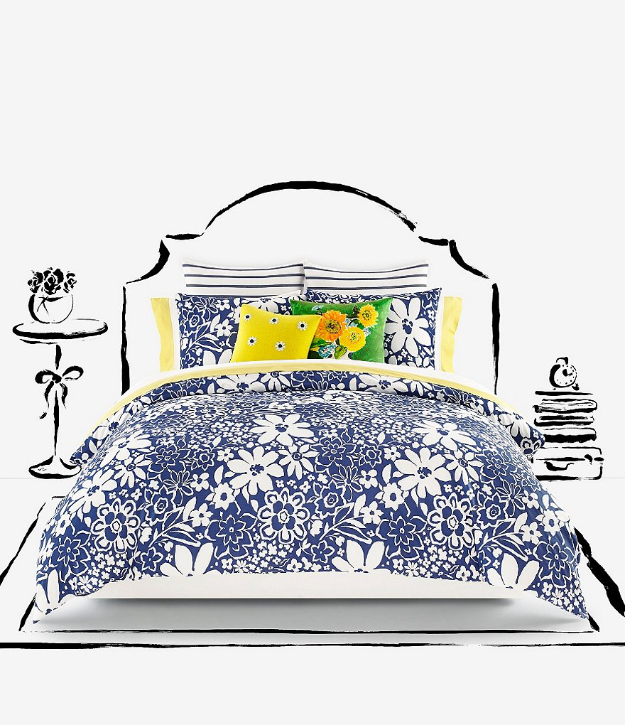 kate spade new york Oversized Floral Dobby Comforter Mini Set