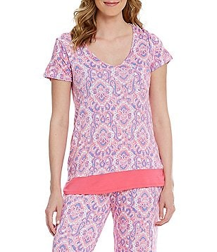 Anne Klein Paisley Jersey Sleep Top