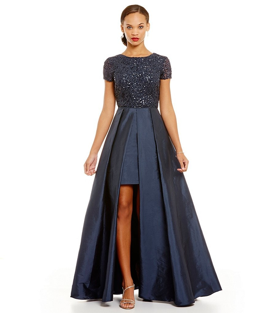 Adrianna Papell Sequin Top Gown