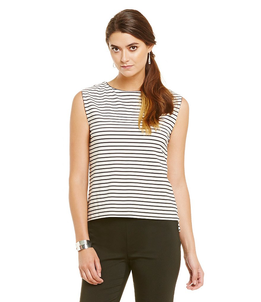 Preston & York Nicole Stripe Sleeveless Knit Top