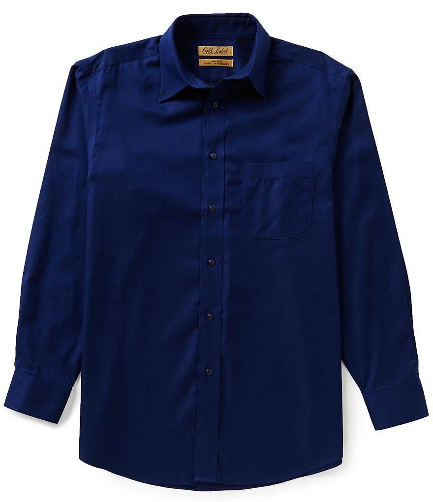 Gold Label Roundtree & Yorke Non-Iron Long-Sleeve Solid Dobby Sportshirt