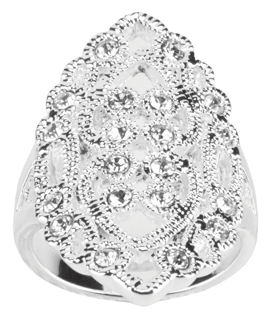 Dillard´s Boxed Collection Filigree Cubic Zirconia Casual Ring