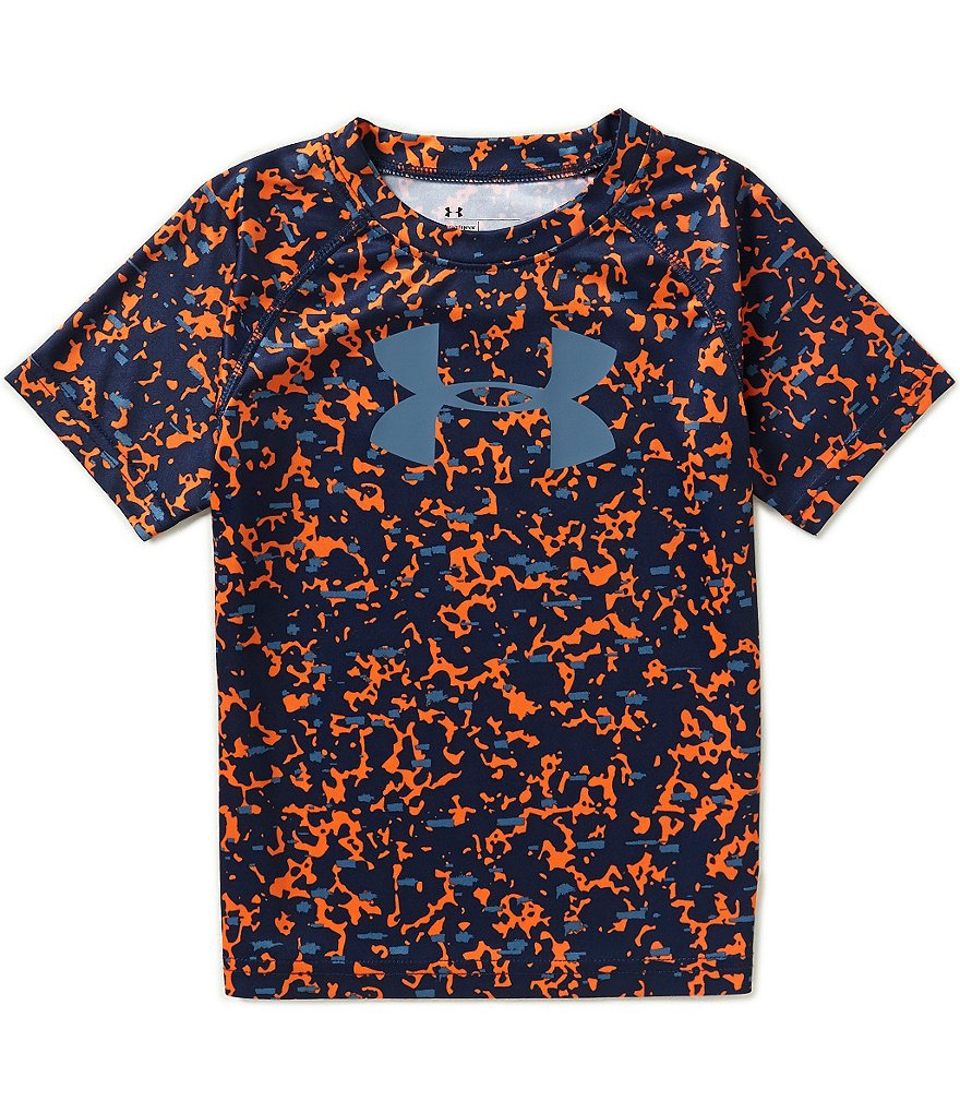 Under Armour Little Boys 4-7 Mega Micro Camouflage-Printed Raglan-Sleeve Tee