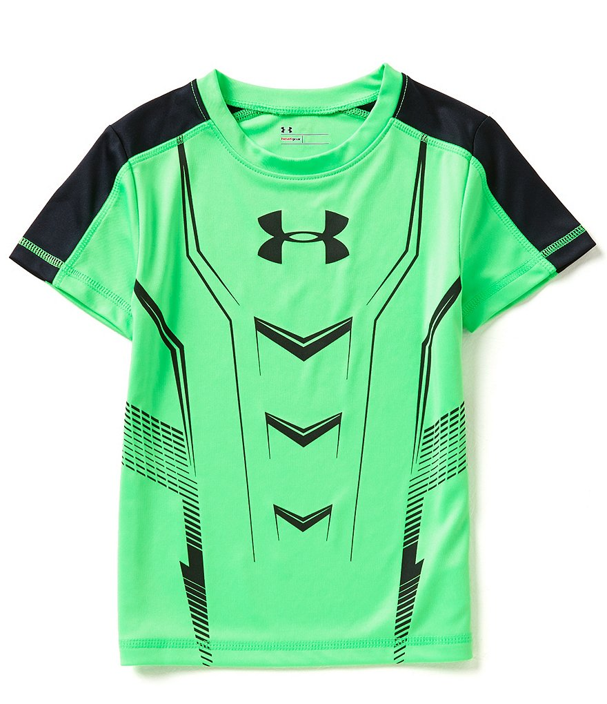 Under Armour Little Boys 2T-7 Baselayer Colorblock Short-Sleeve Tee