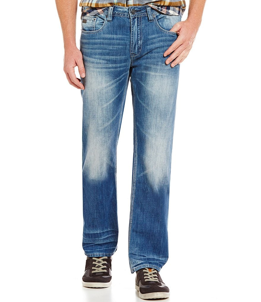 Buffalo David Bitton Six Slim Straight Sanded Jeans