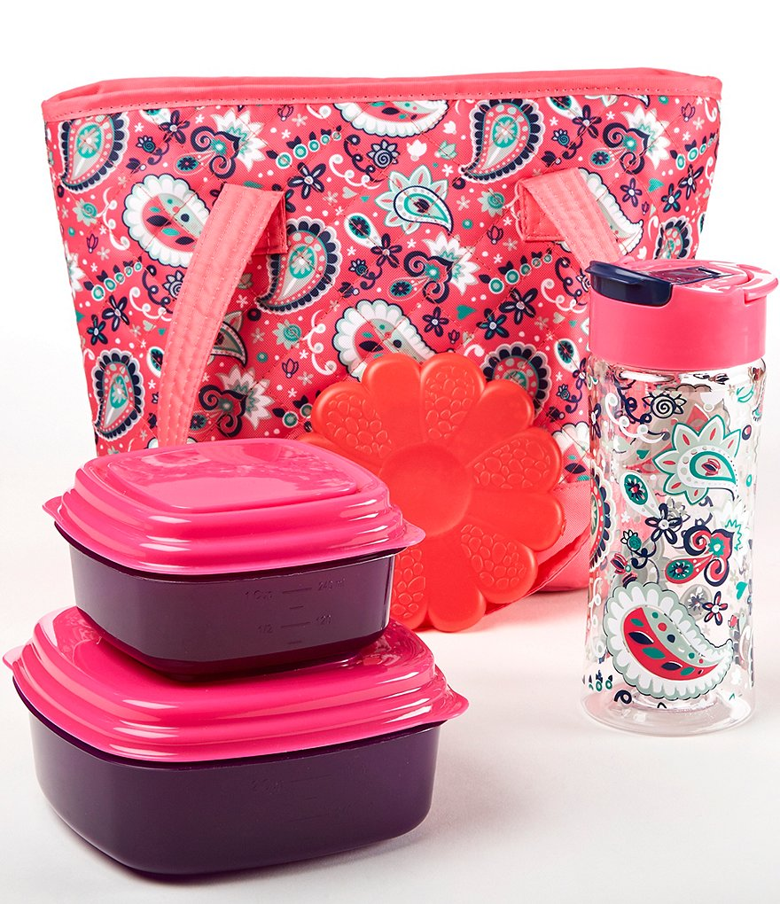Fit & Fresh Anna Pink Paisley Jubilee Lunch Kit