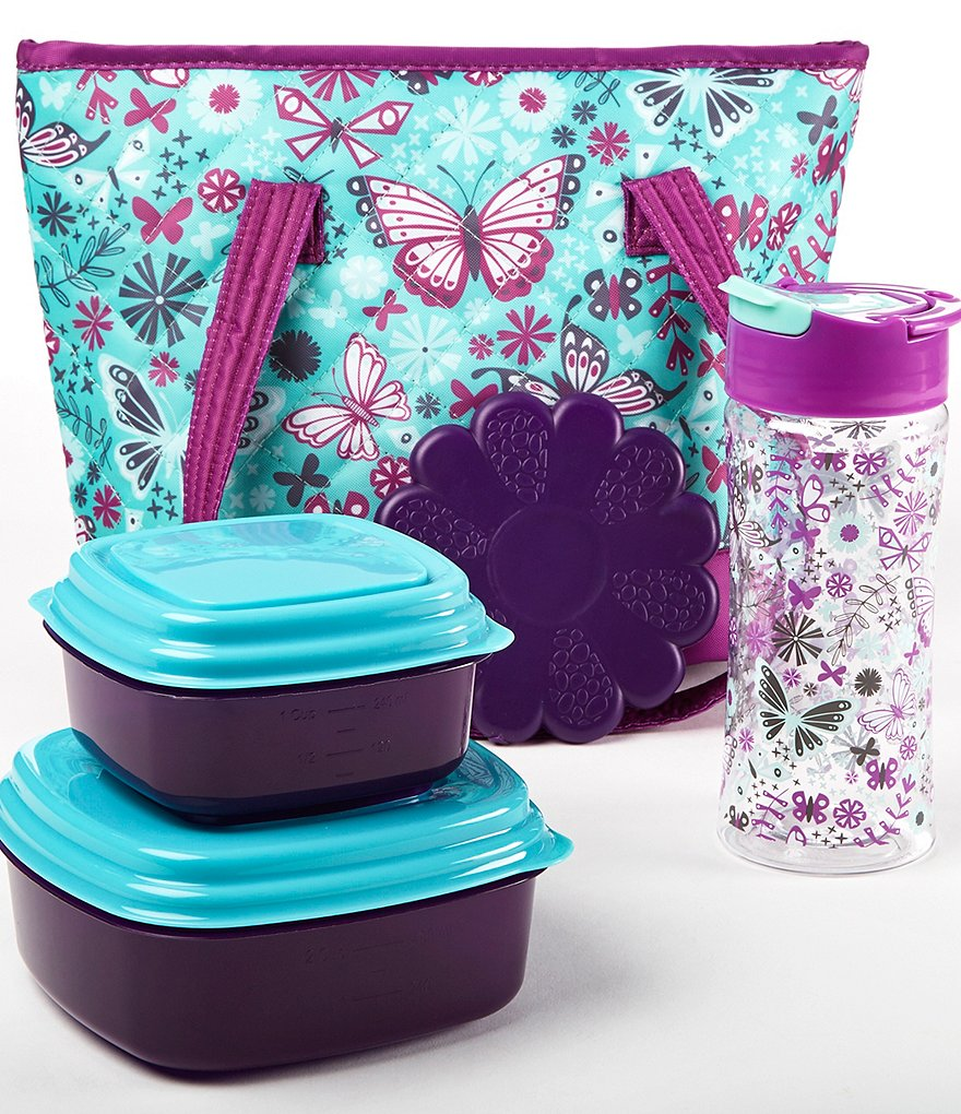 Fit & Fresh Anna Aqua Butterfly Lunch Kit