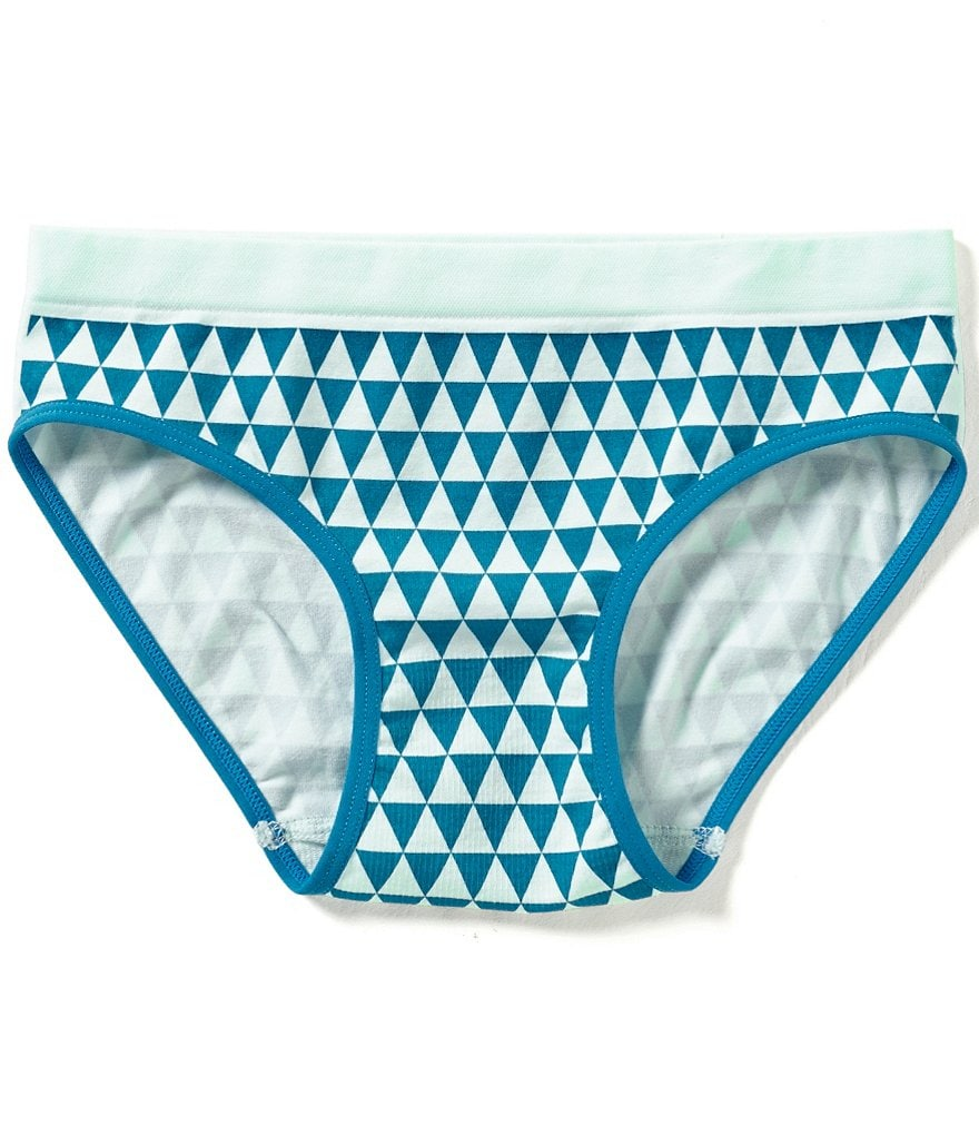 GB Girls Big Girls 7-16 Seamless Geo Hipster Panties