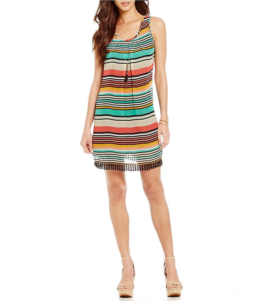 Xtraordinary Multi Colored Striped Dress