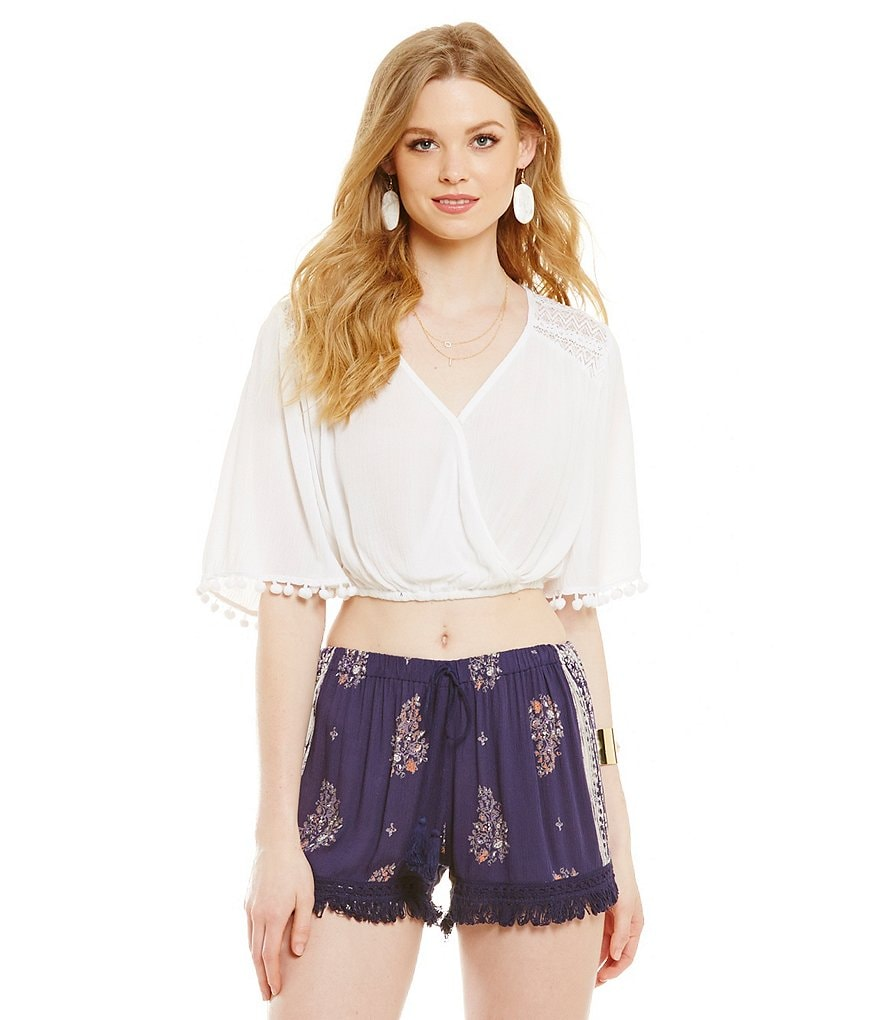 Band Of Gypsies Surplice Crop Top