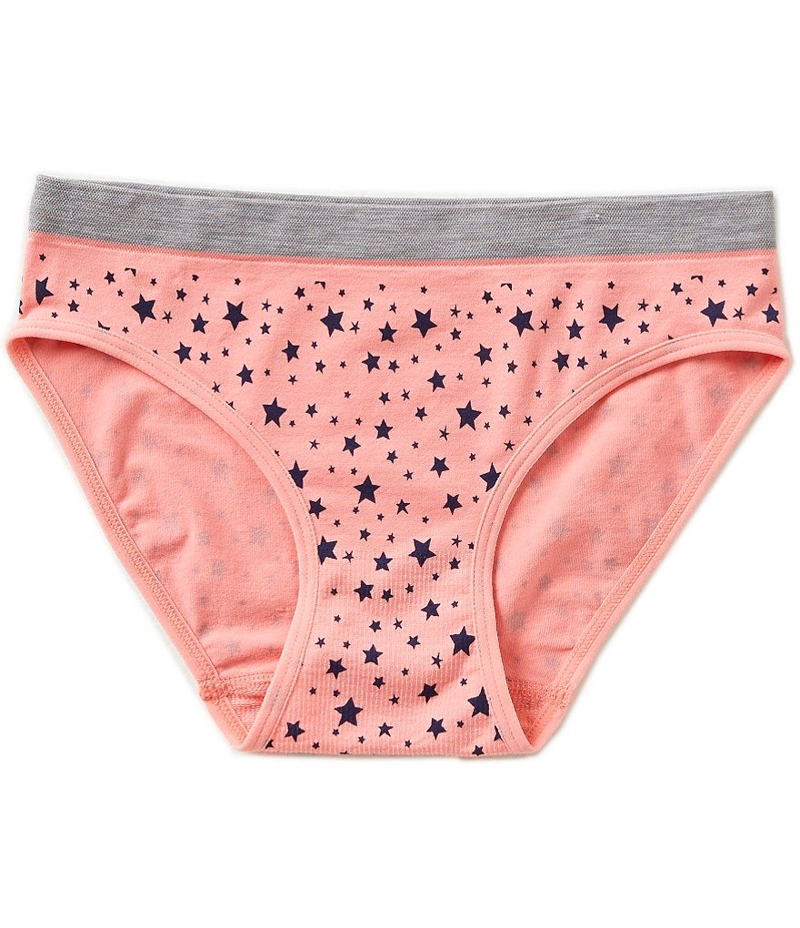 Copper Key Big Girls 7-16 Seamless Star Hipster Panty