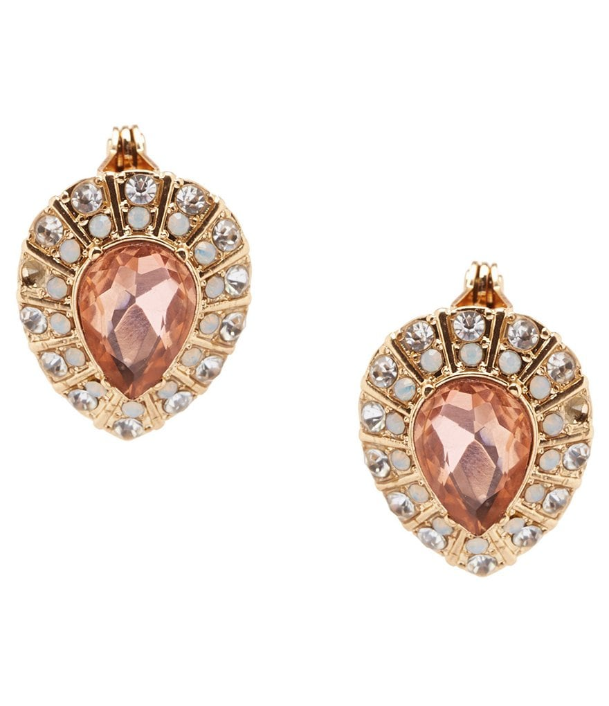 Gemma Layne Pavé Teardrop Clip-On Stud Earrings
