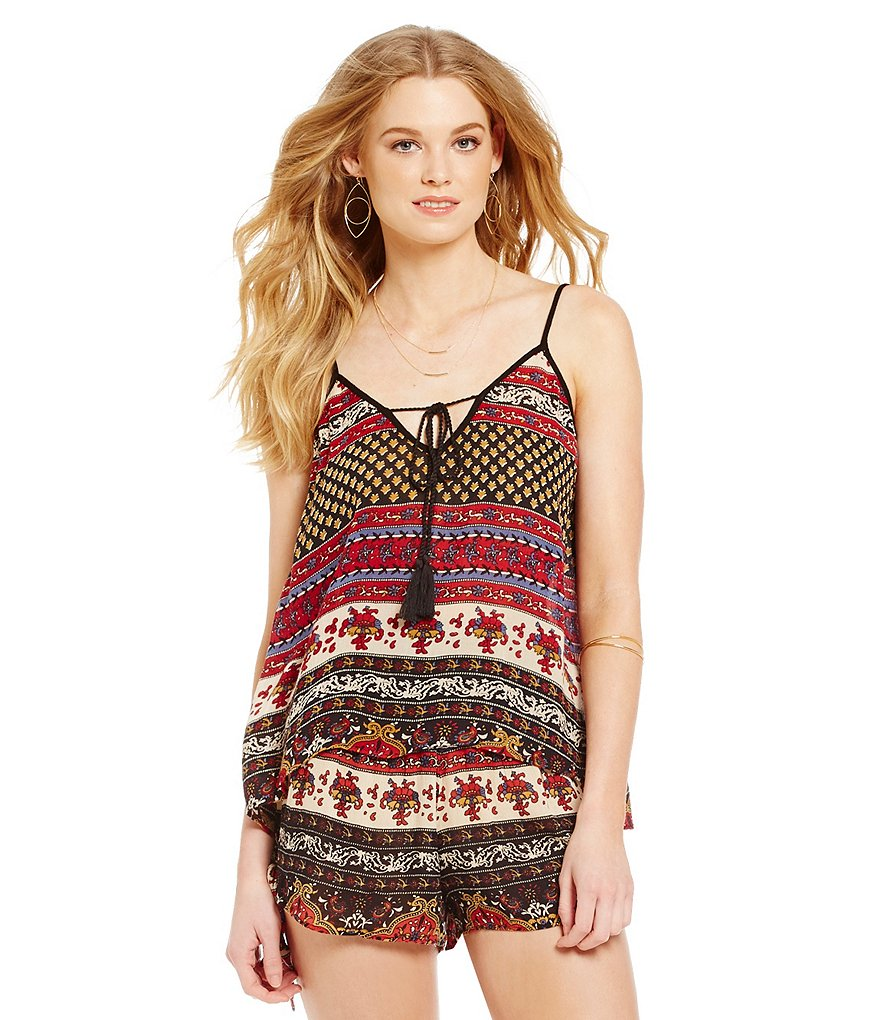 Band Of Gypsies Indian Print Swing Cami