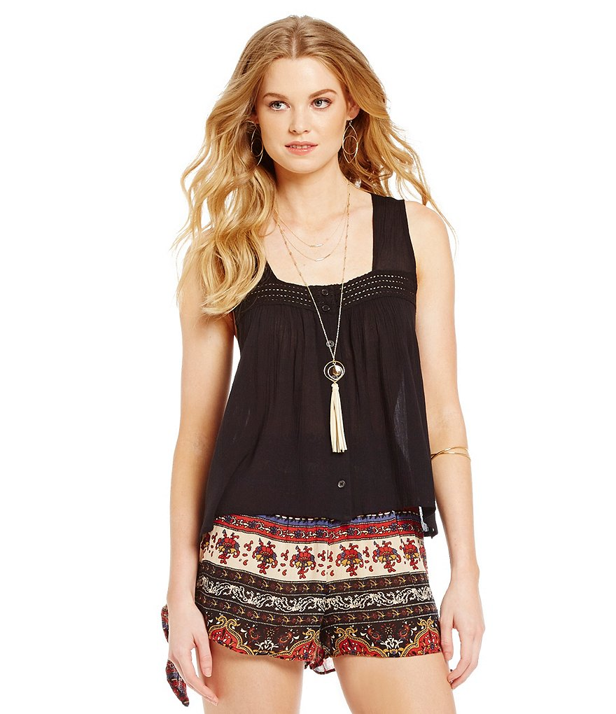 Band Of Gypsies Crochet Inset Camisole