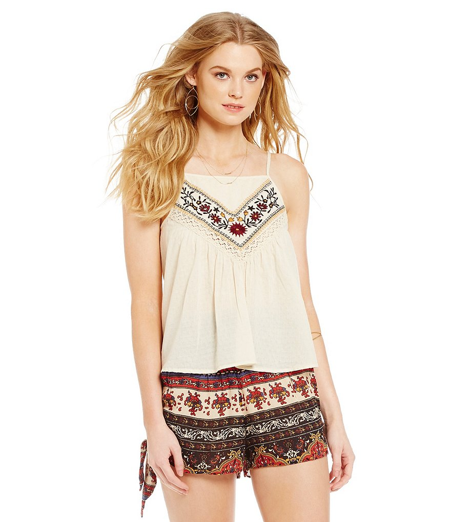Band Of Gypsies Romantic Embroidered Camisole