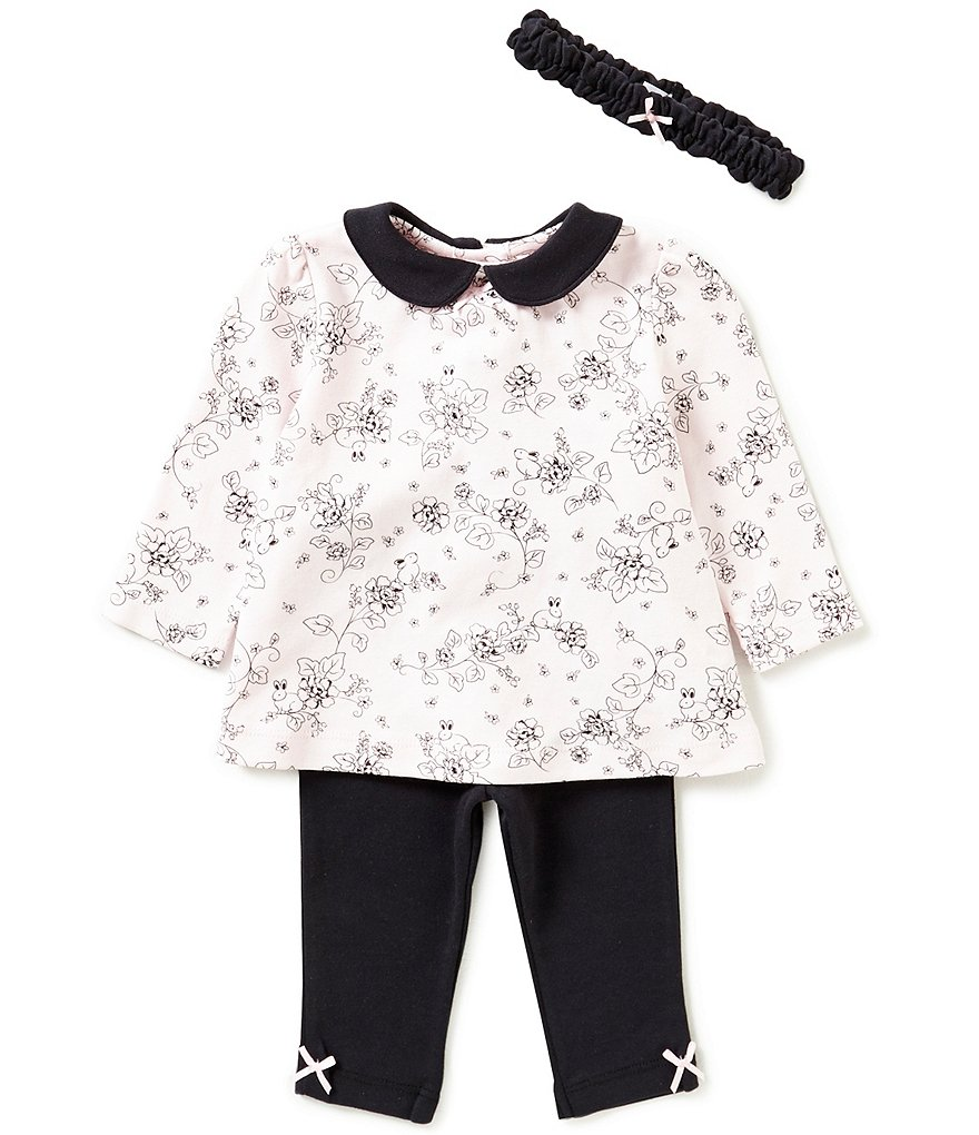 Little Me Baby Girls 3-12 Months Trellis Rose Tunic and Leggings Set