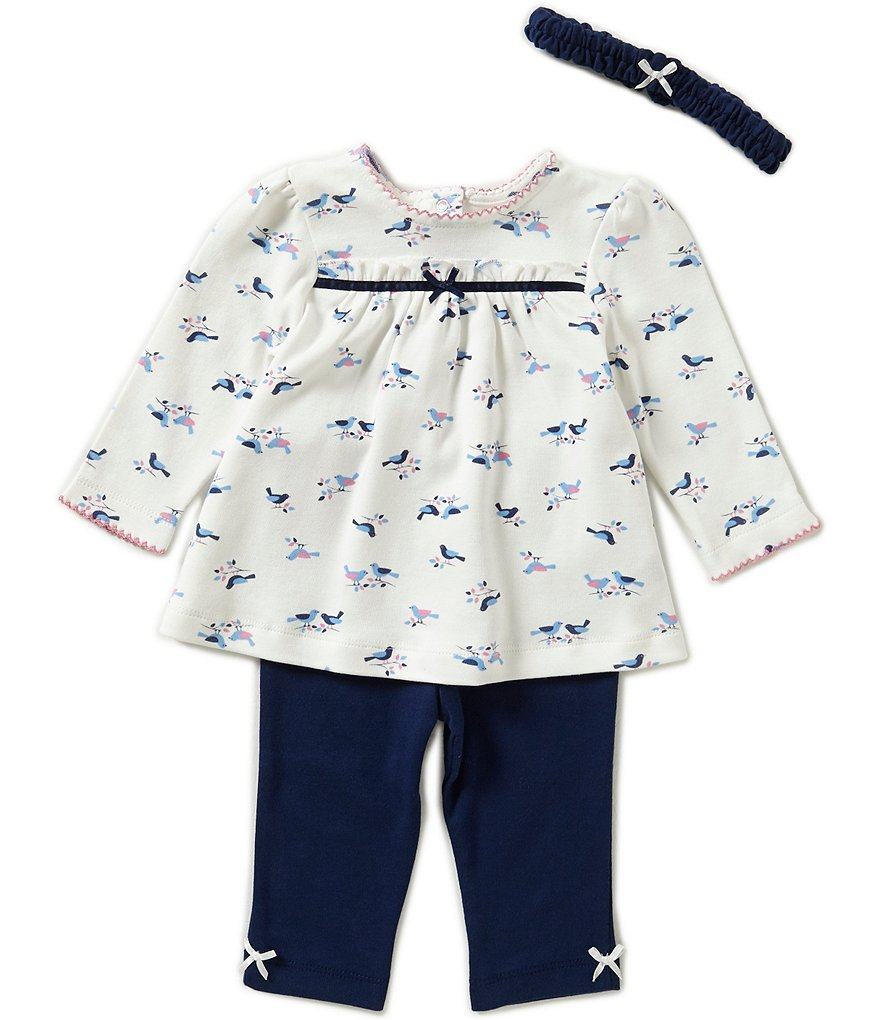 Little Me Baby Girls´ 3-12 Months Happy Birds Tunic, Leggings & Headband Set