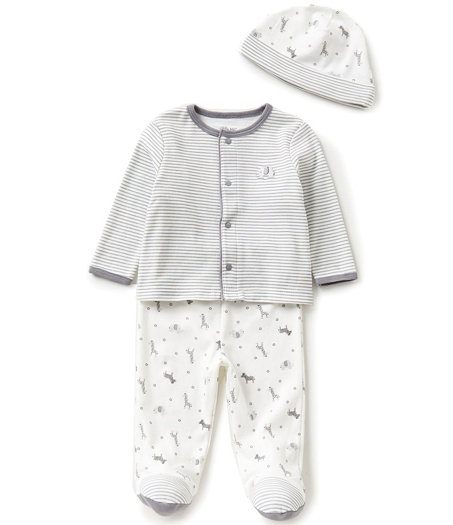 Little Me Baby Boys Newborn-9 Months Safari Striped Layette Set