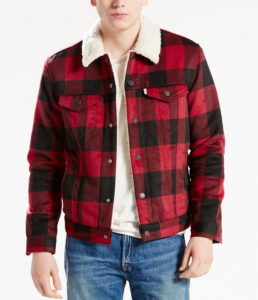 Levi´s® Faux Sherpa Lined Plaid Trucker Jacket