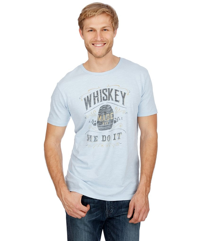 Lucky Brand Whiskey Made Me Short-Sleeve Graphic Tee