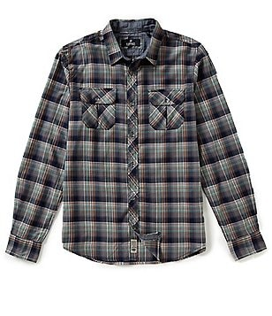 Buffalo David Bitton Sampir Plaid Long-Sleeve Woven Shirt