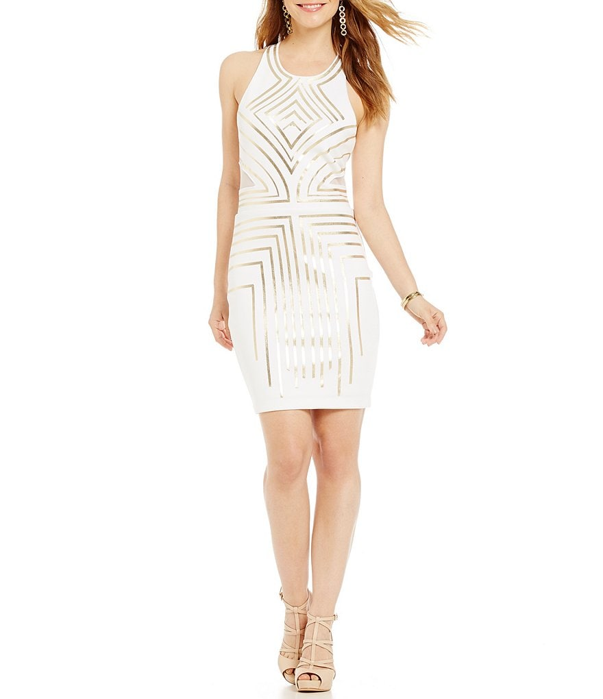 Guess Jasmina Foiled Sequin Dress