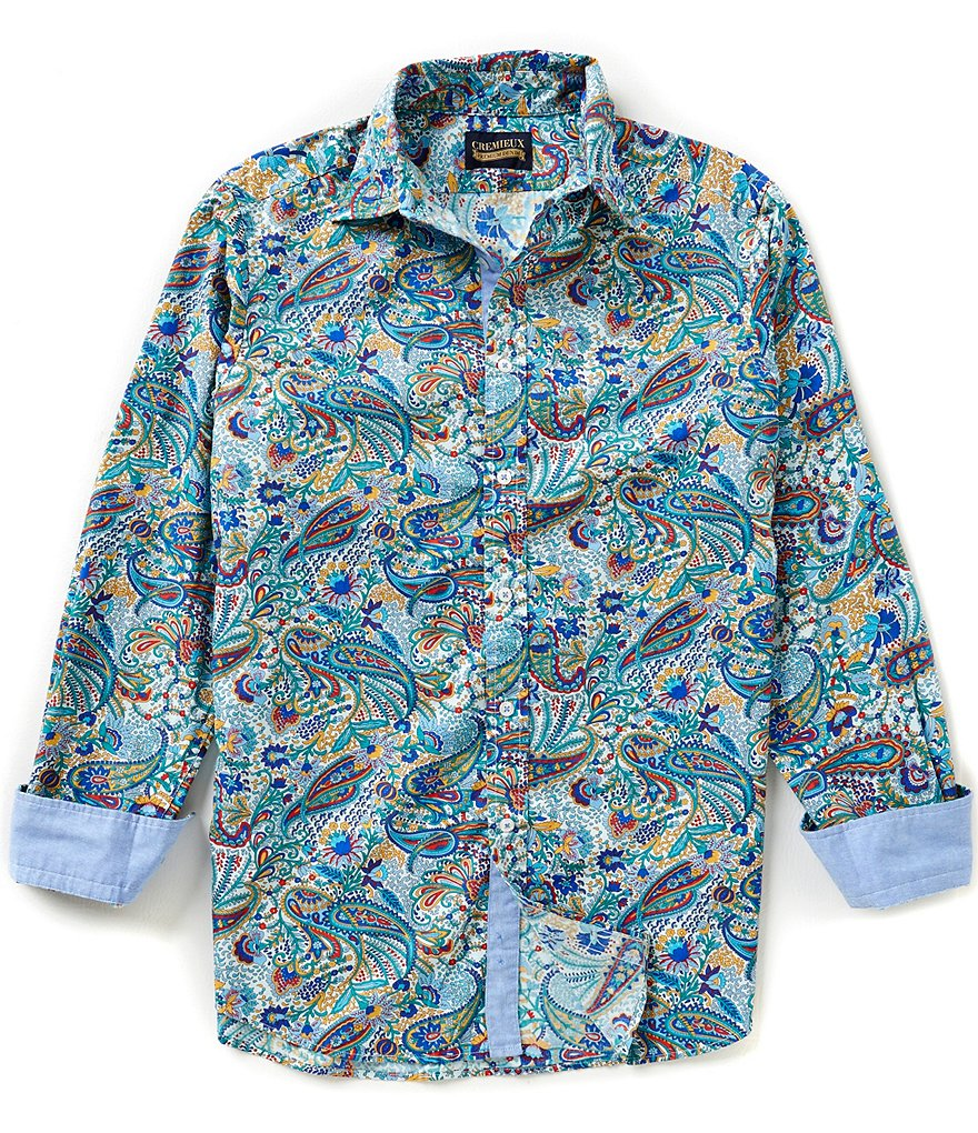 Cremieux Jeans Long-Sleeve Repeating Paisley Woven Shirt