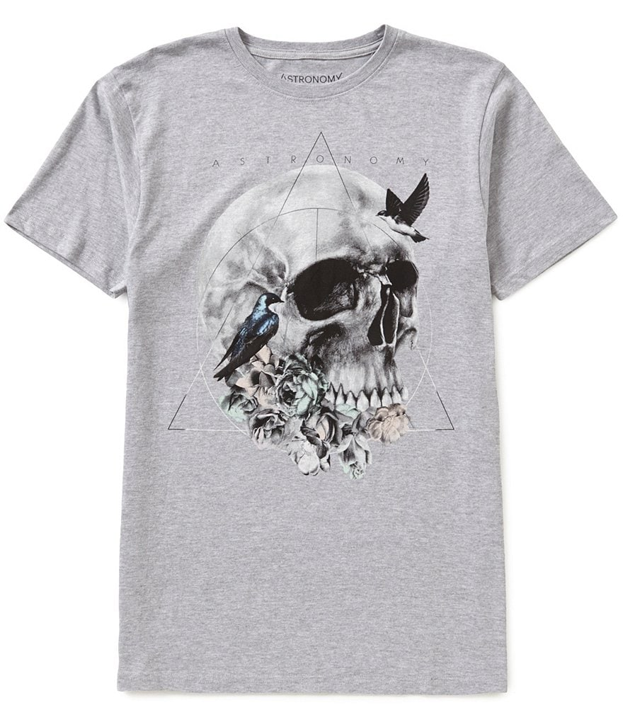 Astronomy Skull Nature Short-Sleeve Graphic Tee
