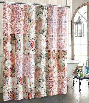 Poetic Wanderlust™ by Tracy Porter Wish Patchwork Cotton Shower Curtain