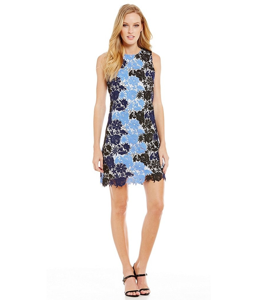 Calvin Klein Floral Lace Sheath Dress