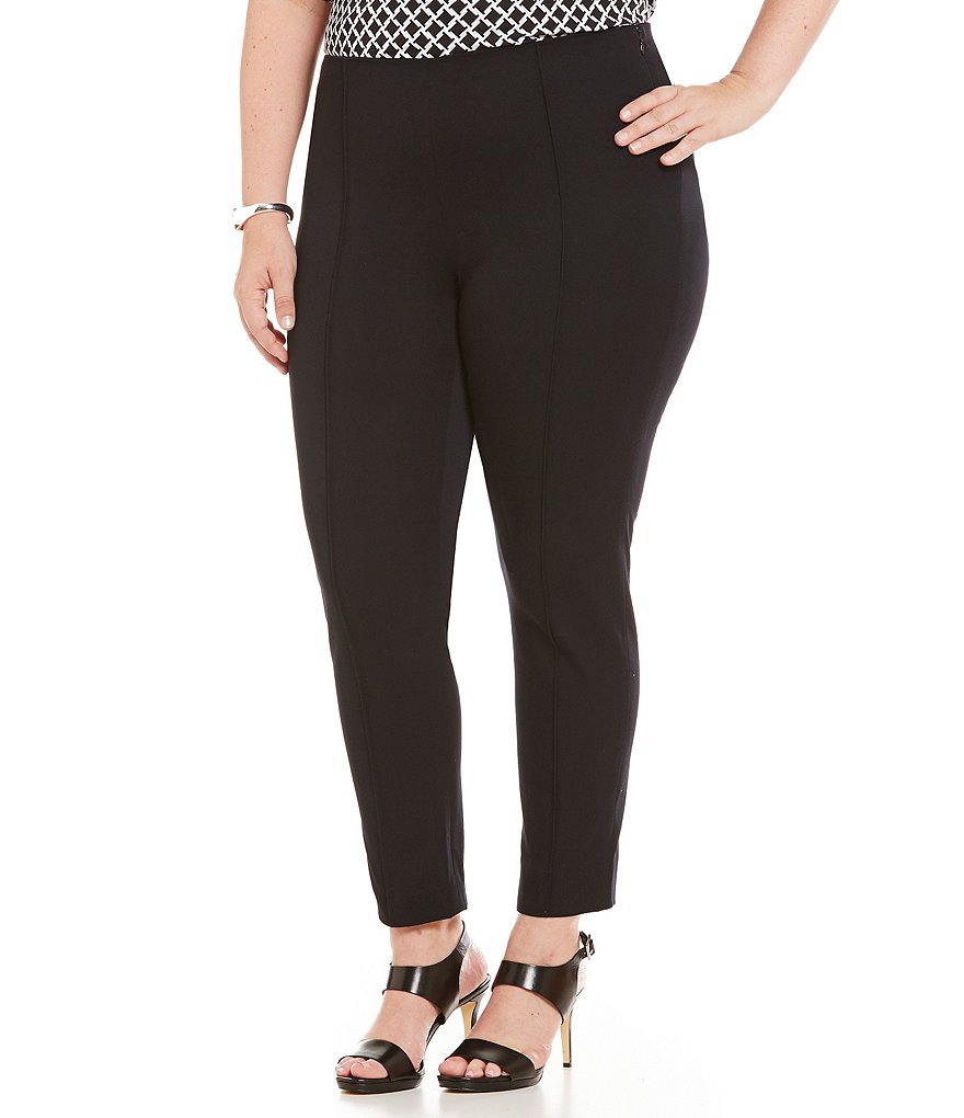 MICHAEL Michael Kors Plus Bi-Stretch Twill Pintuck Seamed Pants