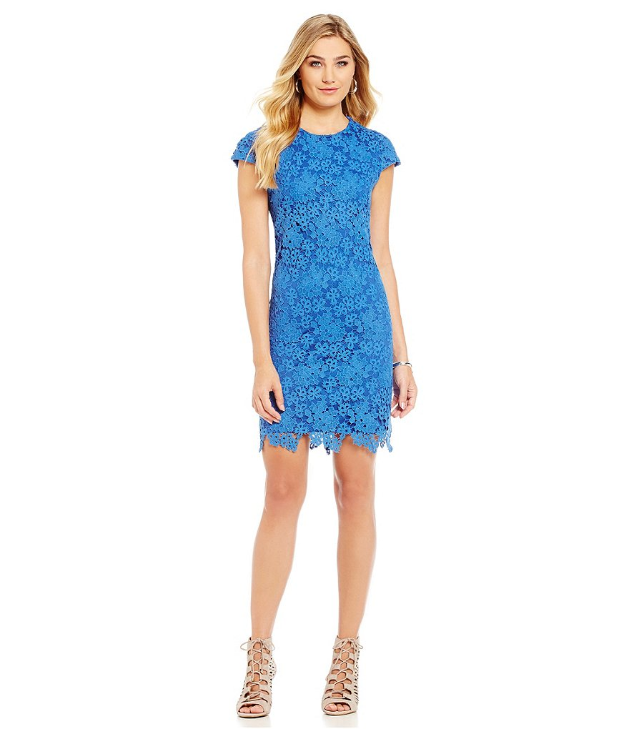 KARL LAGERFELD PARIS Floral Lace Dress