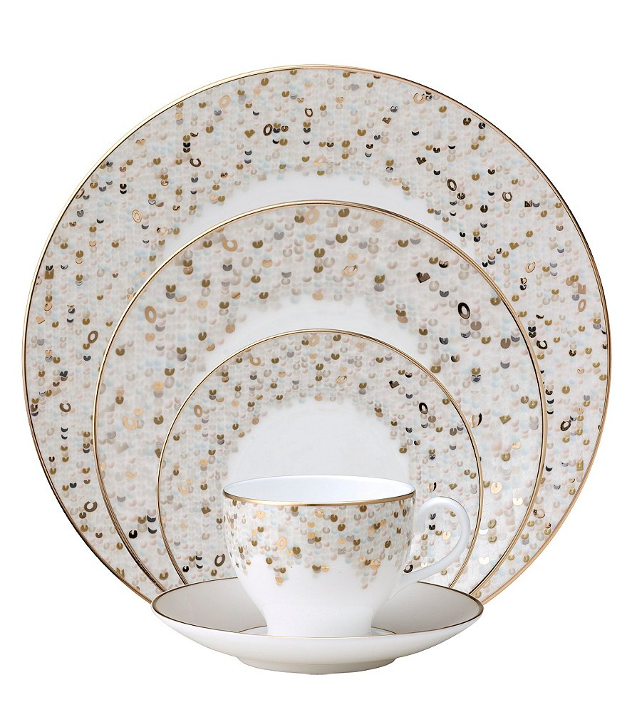 Nikko Spangles Shimmering Bone China 5-Piece Place Setting