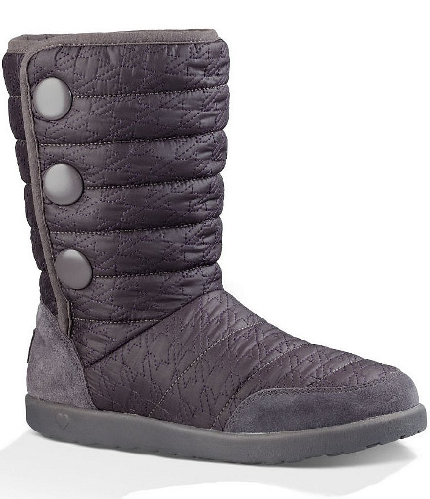 UGG® Girls´ Puffy Quilted Houndstooth Boots