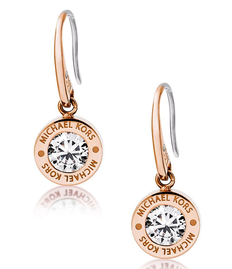 Michael Kors Pavé Stainless Steel Drop Earrings