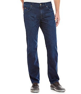 BOSS Maine Regular Fit Straight Leg Stretch Cotton Jeans