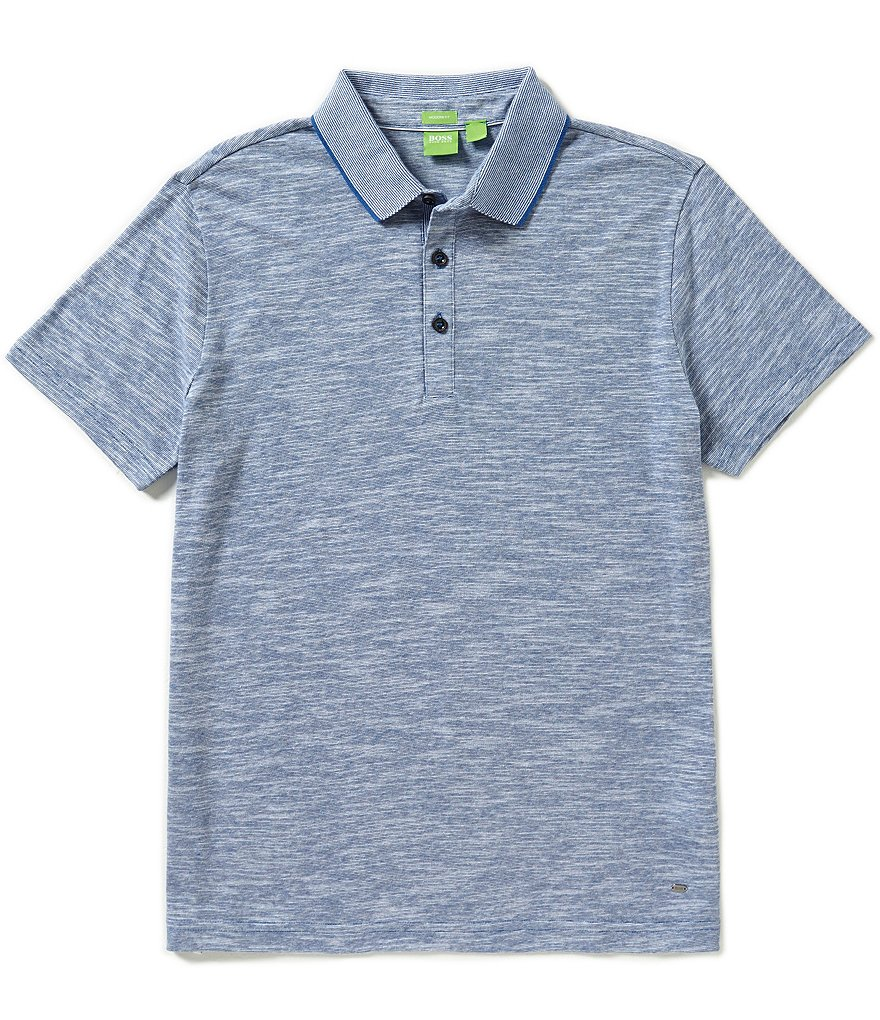 BOSS Green C-Rapino Flame Mouline Short Sleeve Polo Shirt