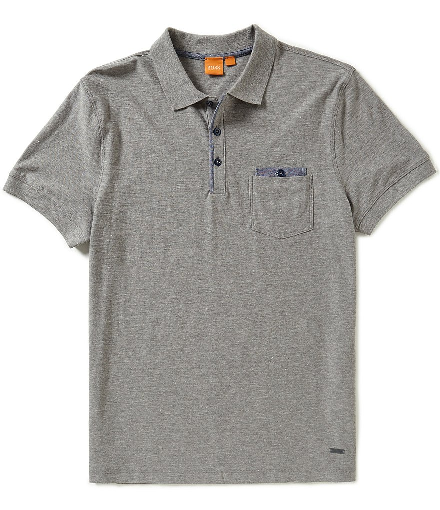 BOSS Orange Powers Contrast Short Sleeve Polo Shirt
