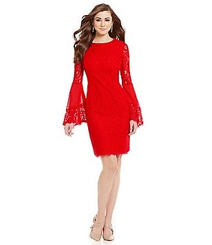 Antonio Melani Dakota Lace Bell Sleeve Dress